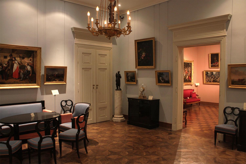 Schottenstift in wien, museum -biedermeierzimmer