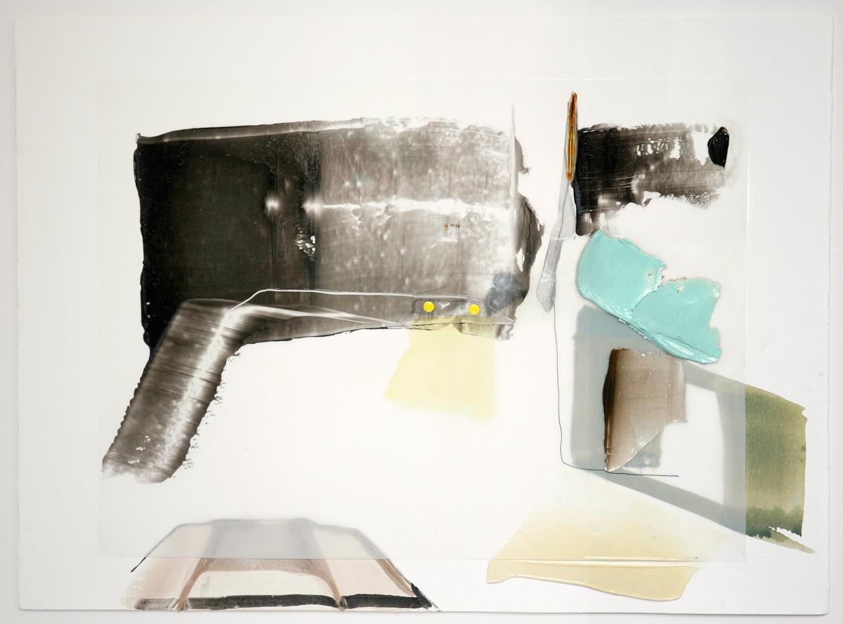 Thunderbird , 2015 Acrylique et crayons sur papier Mylar 30'' x 22''