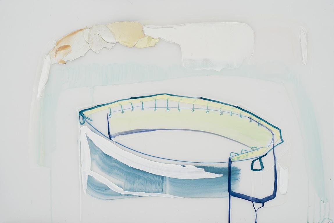 Affaisement, 2015  acrylique et crayons sur papier Mylar 24'' x 36''