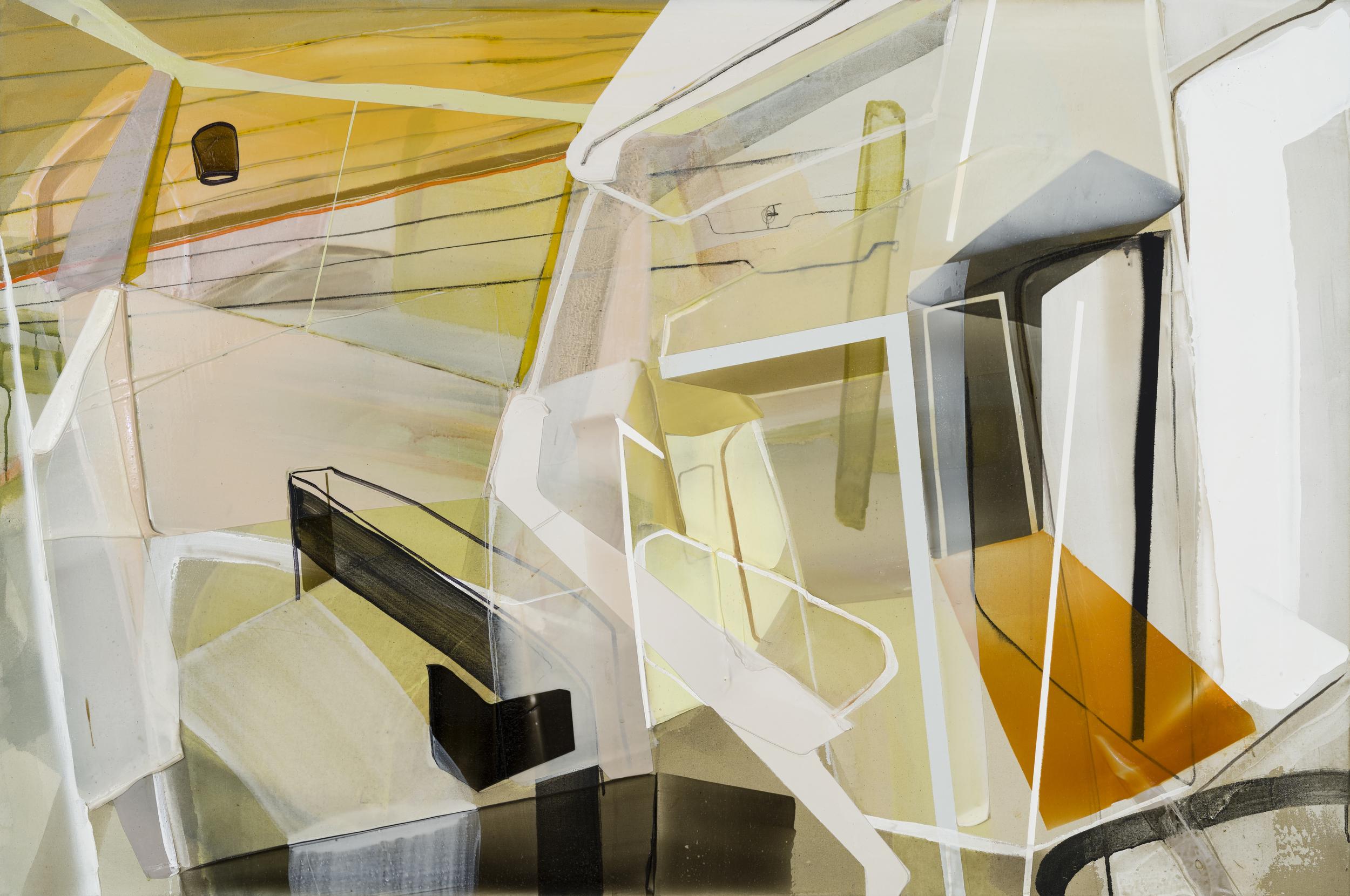 Insomnie, 2016  acrylique sur toile     40'' x 60''