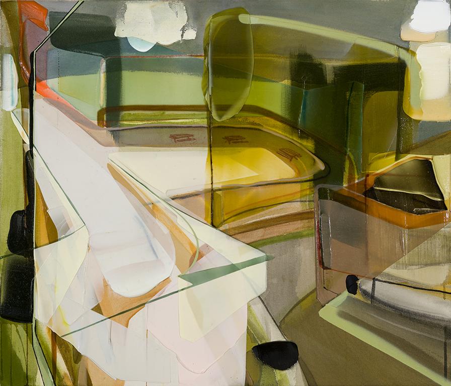 Halte, 2016  acrylique sur toile   37'' x 43''