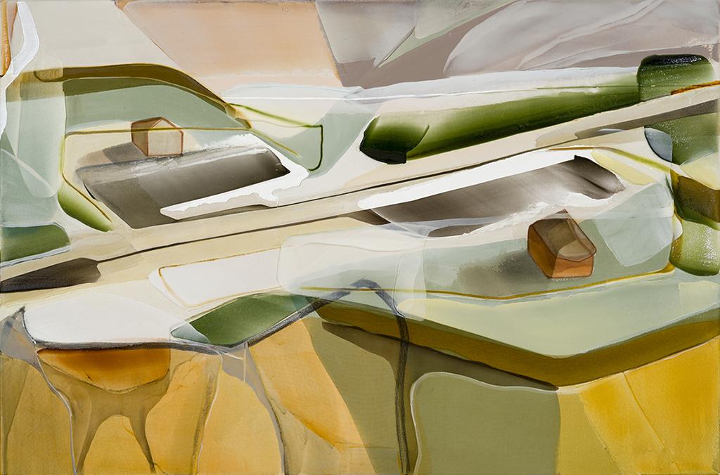 Haltes médianes  2016   acrylique sur toile    40'' x 60''