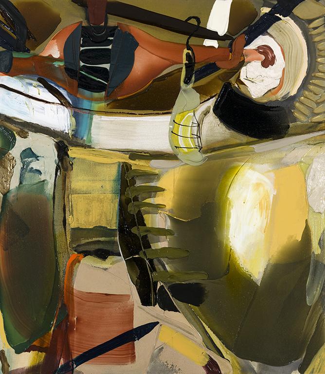 Fosse,  2019 acrylique sur toile, 48'' x 42''