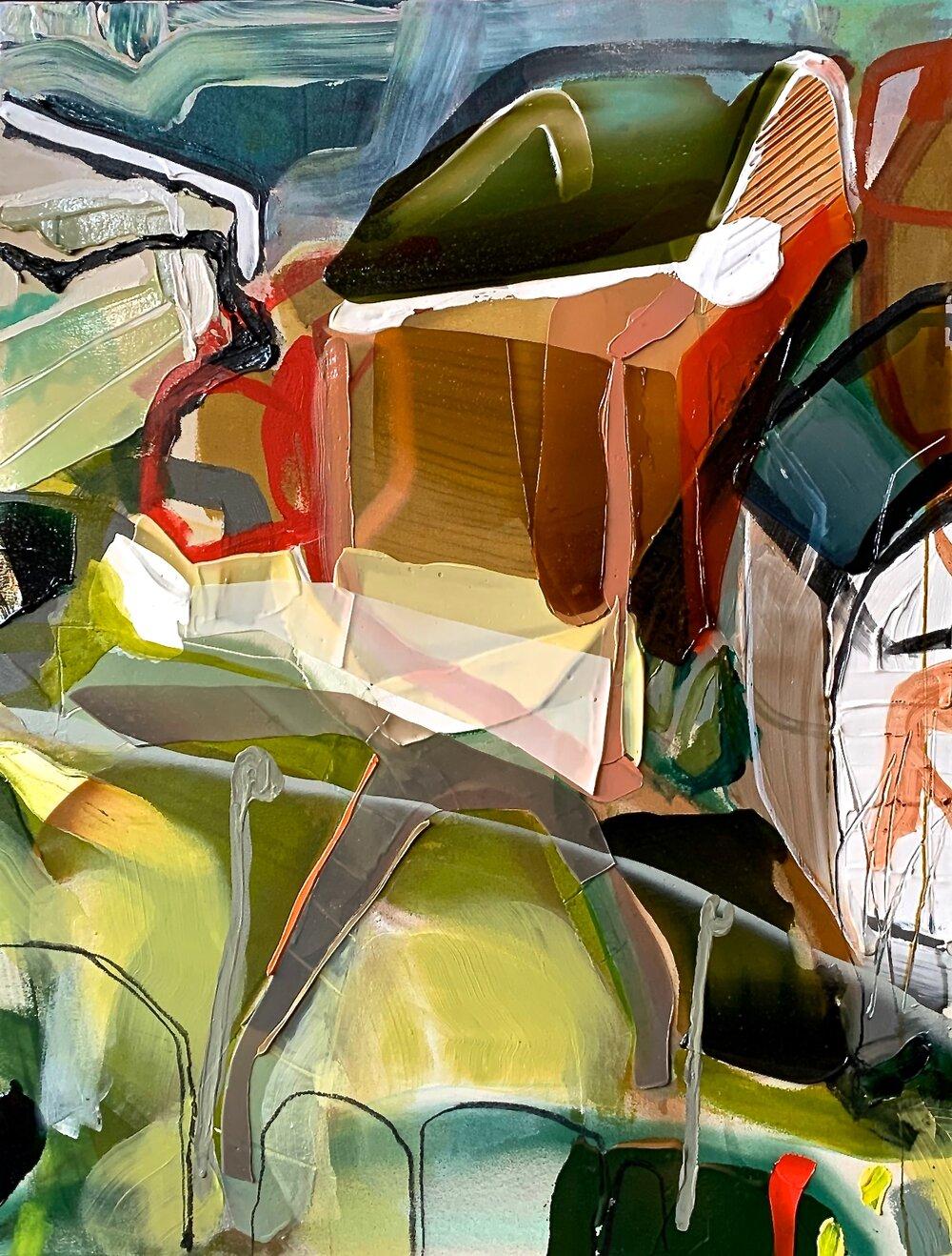 Tony's garden, 2019, acrylique sur toile, 52'' x 40''