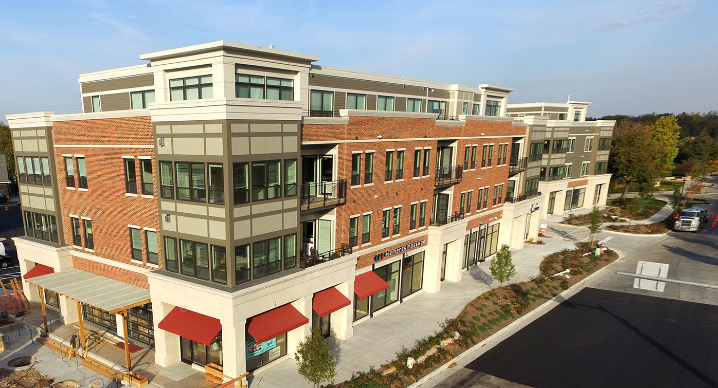 Mequon Town Center, a completed MHA project, located in Cedarburg, Wisconsin.