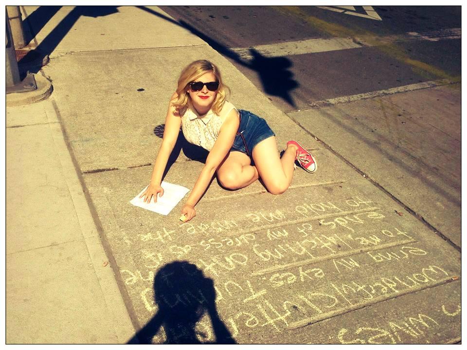 Chalk Activisim. Photo by: Jennie Egerdie