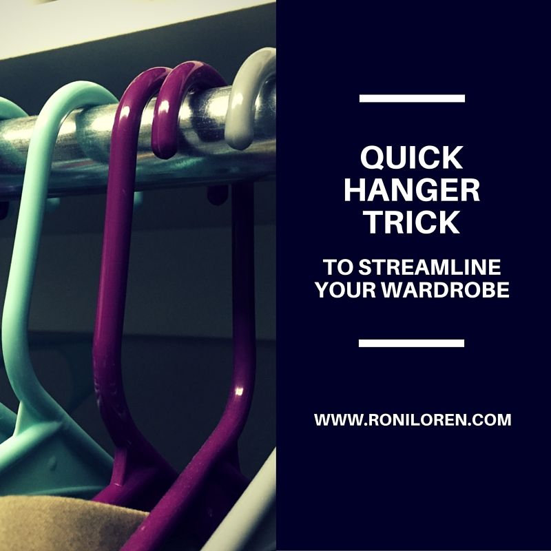 Quick trick to streamline your wardrobe