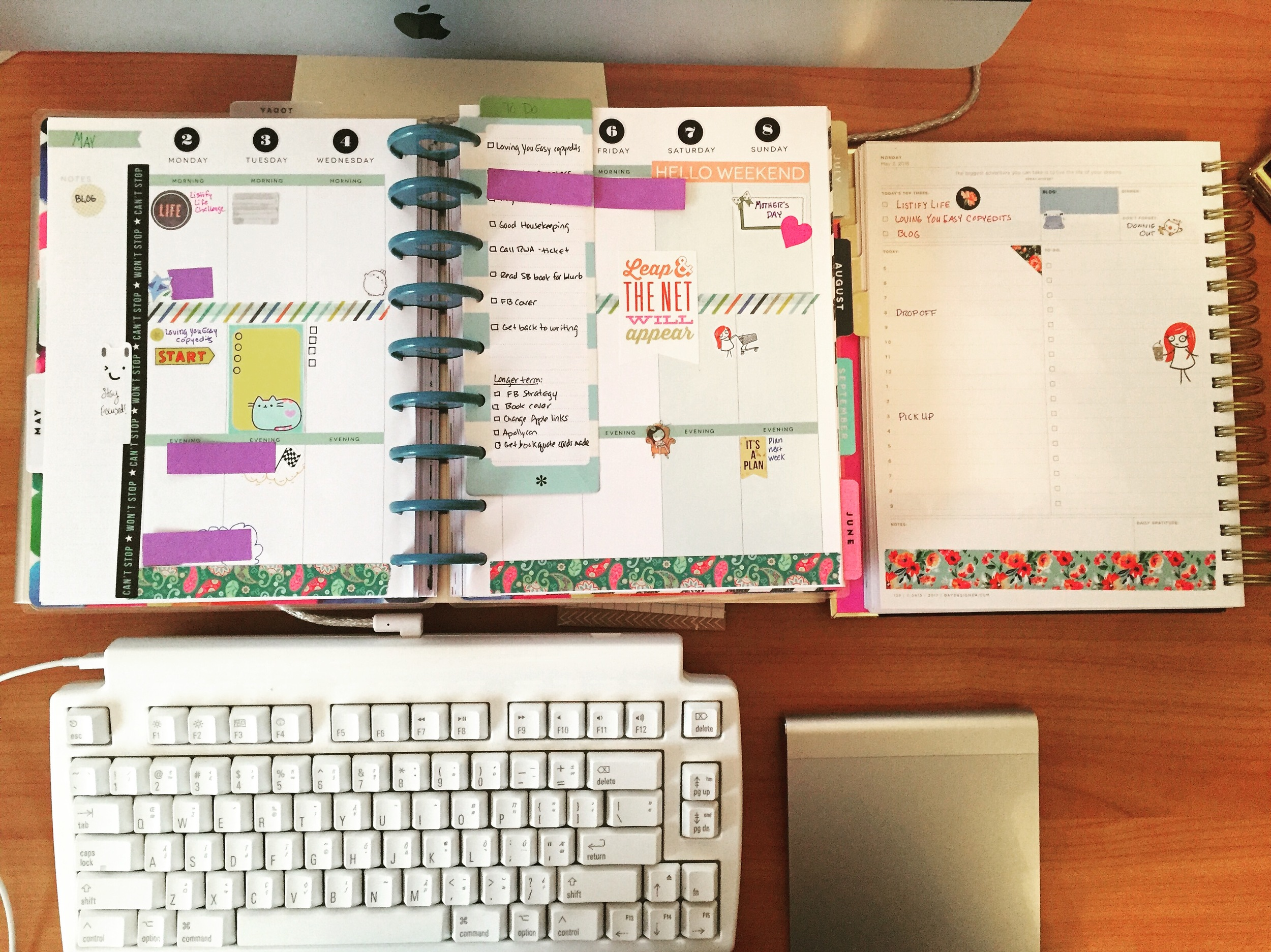 Two Planner system - Happy Planner and Day Designer