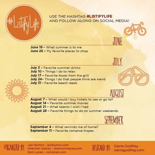 Listify Life Summer Challenge