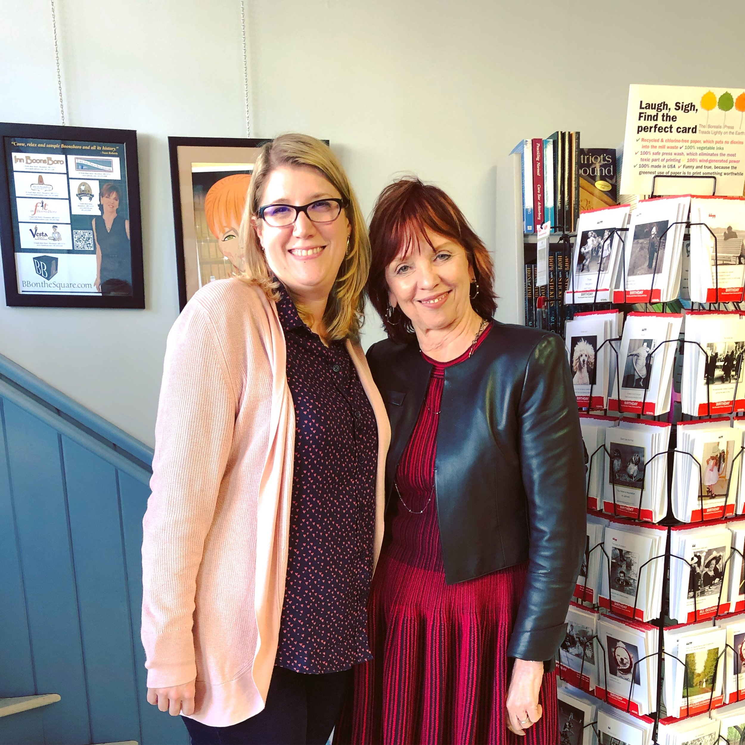 Me trying to look totally calm with Nora Roberts