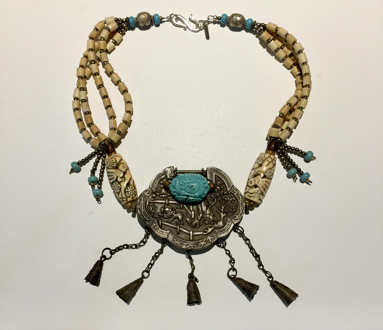 China Handmade Old Bone Jade Carving Buddha /& Bird Double Jewelry Box AS