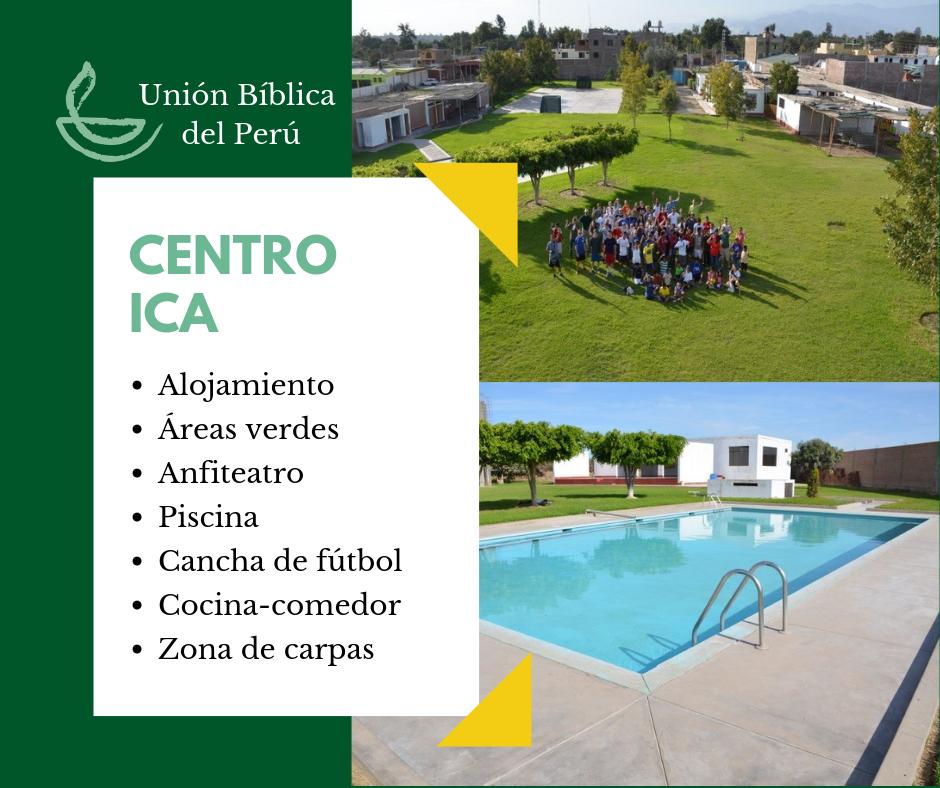 Desde 1993, el Centro Ica de la Unión Bíblica del Perú es sede de diversos eventos y lugar estratégico para realizar rutas turísticas -