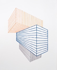 """Sabine Reckewell, """"Untitled #18,"""" 2016, cotton thread on canvas paper, 22 x 18 inches each"""