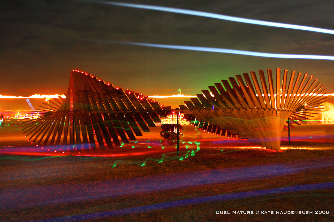 Duel Nature at Burning Man 2006. .photo in The Burning Book