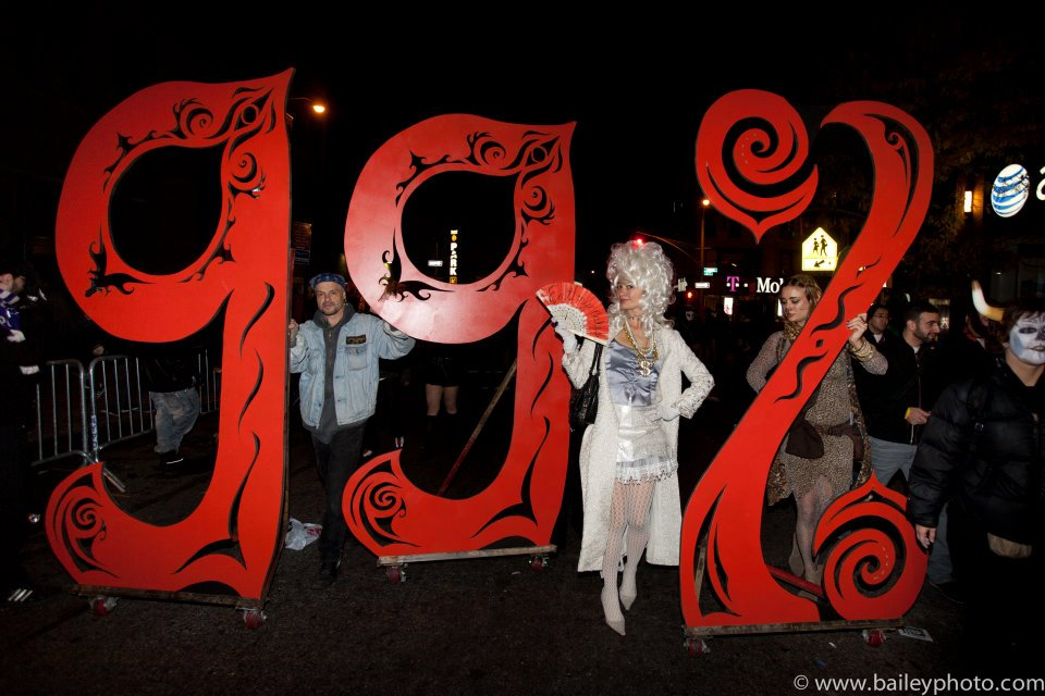 a halloween protest with Occupy Wall Street
