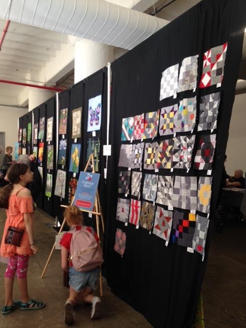 The Challenge Blocks on display -