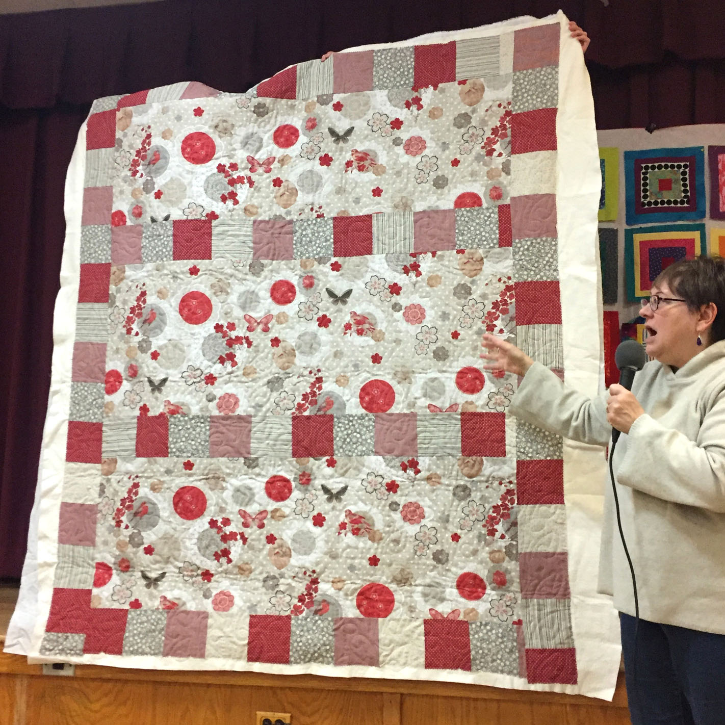 Copy of Copy of French linen quilt by Susan Sato