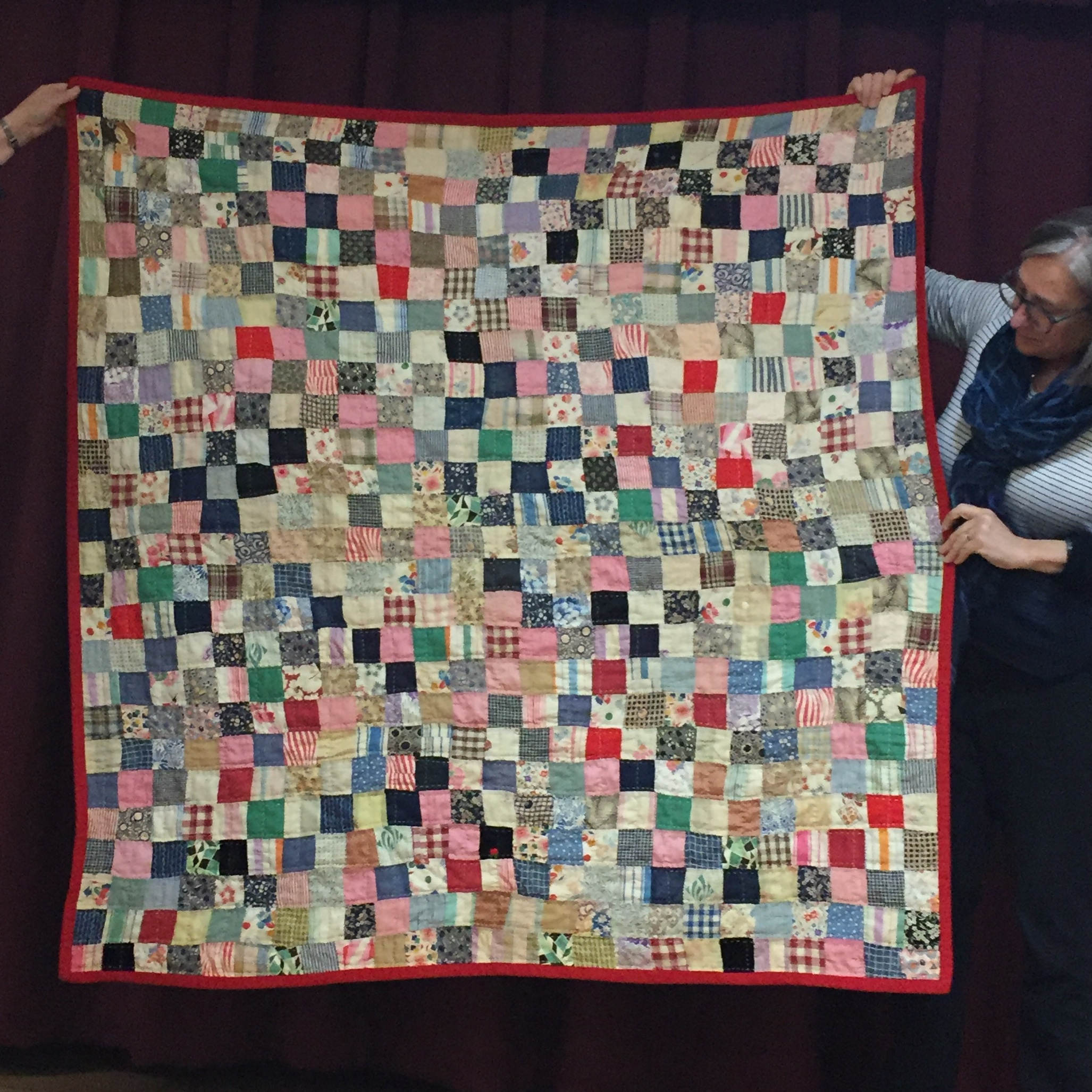 Vintage quilt, repaired and finished