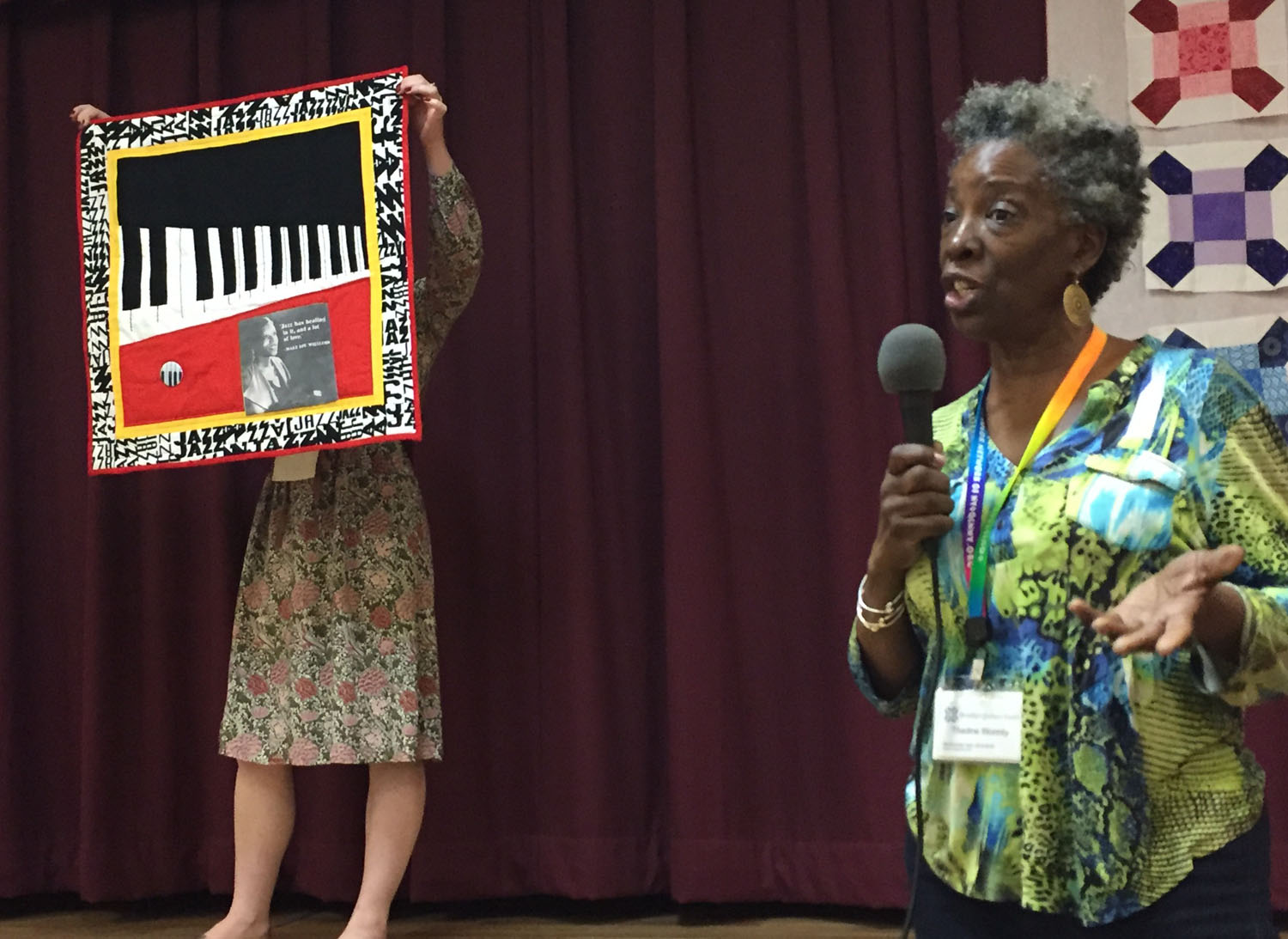 Tribute to Mary Lou Williams quilt by Thadine Wormly