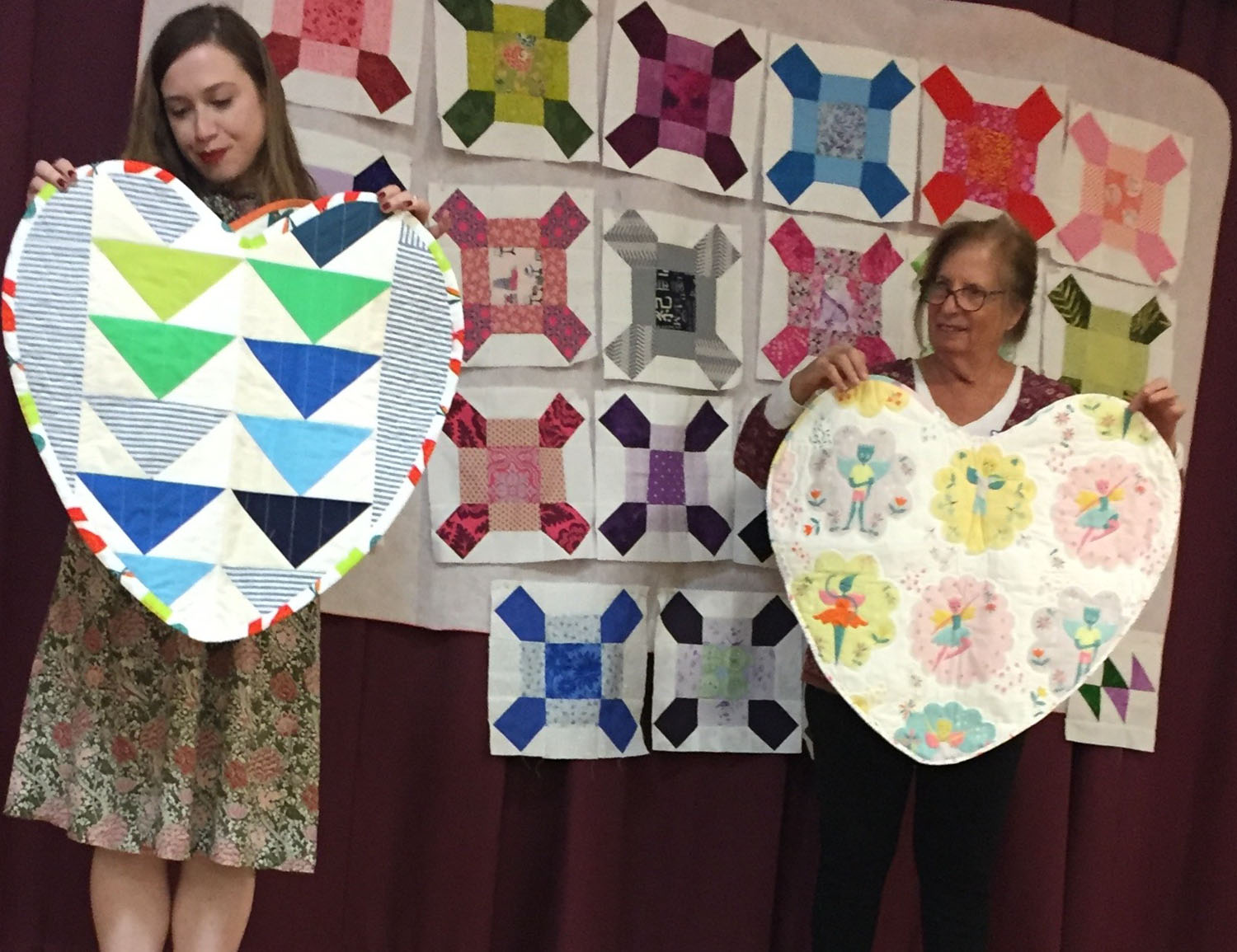 Neonatal baby heart quilts by Trudi Roach