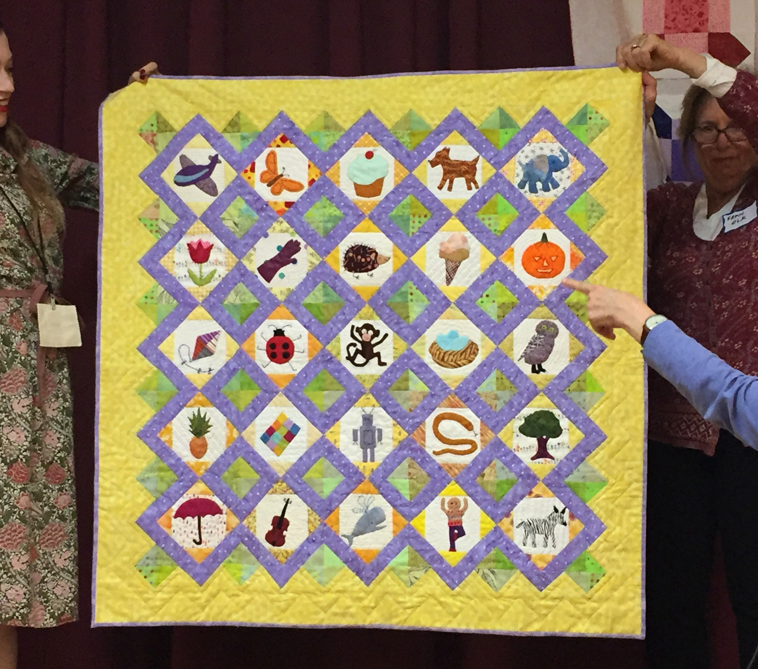 Monkey in the Middle quilt by Micki Segal