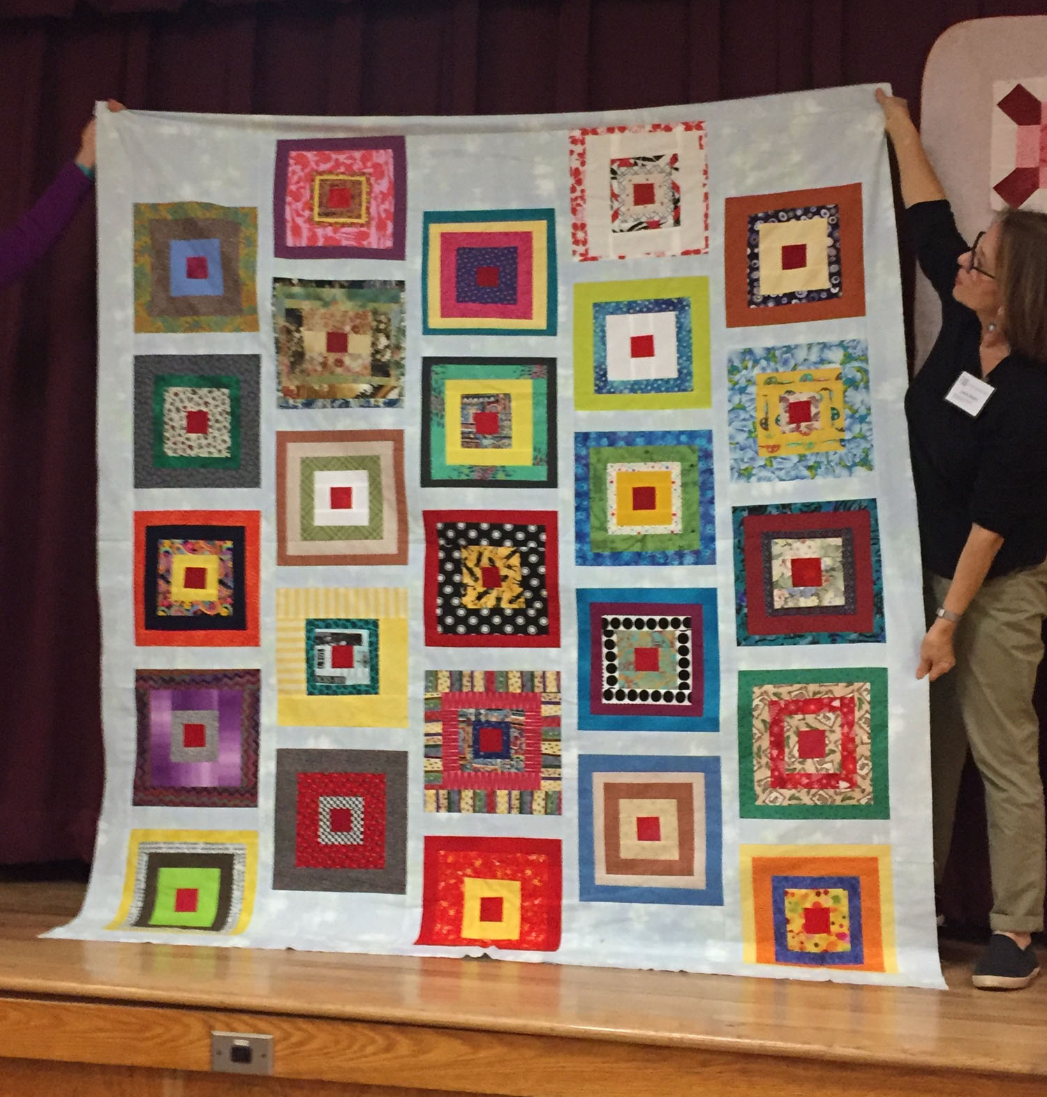 Comfort Quilt made from BOM blocks by Chris Petersen