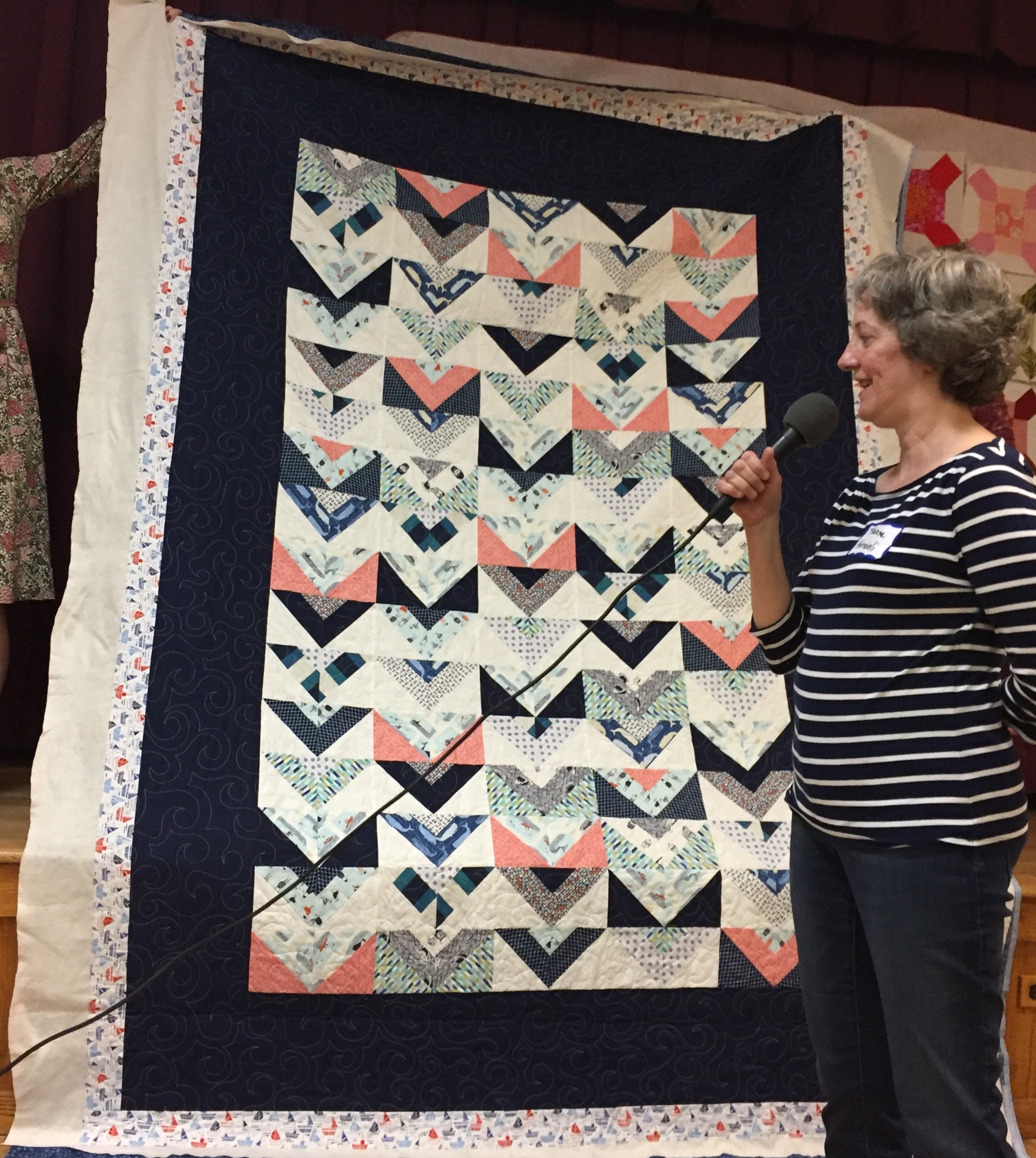 Nautical quilt by Theresa Ferratoli