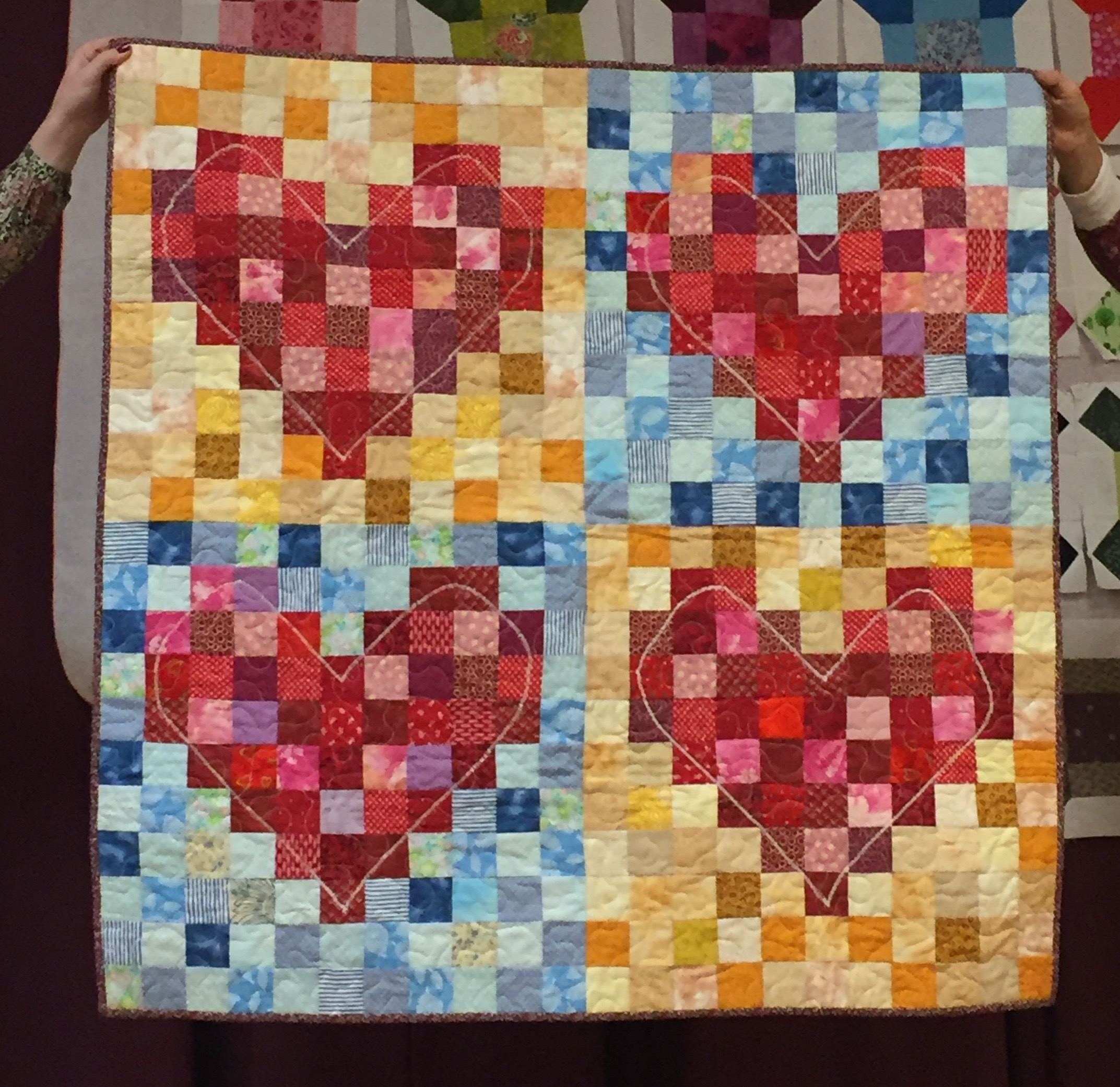 Heart quilt by Pat Decker