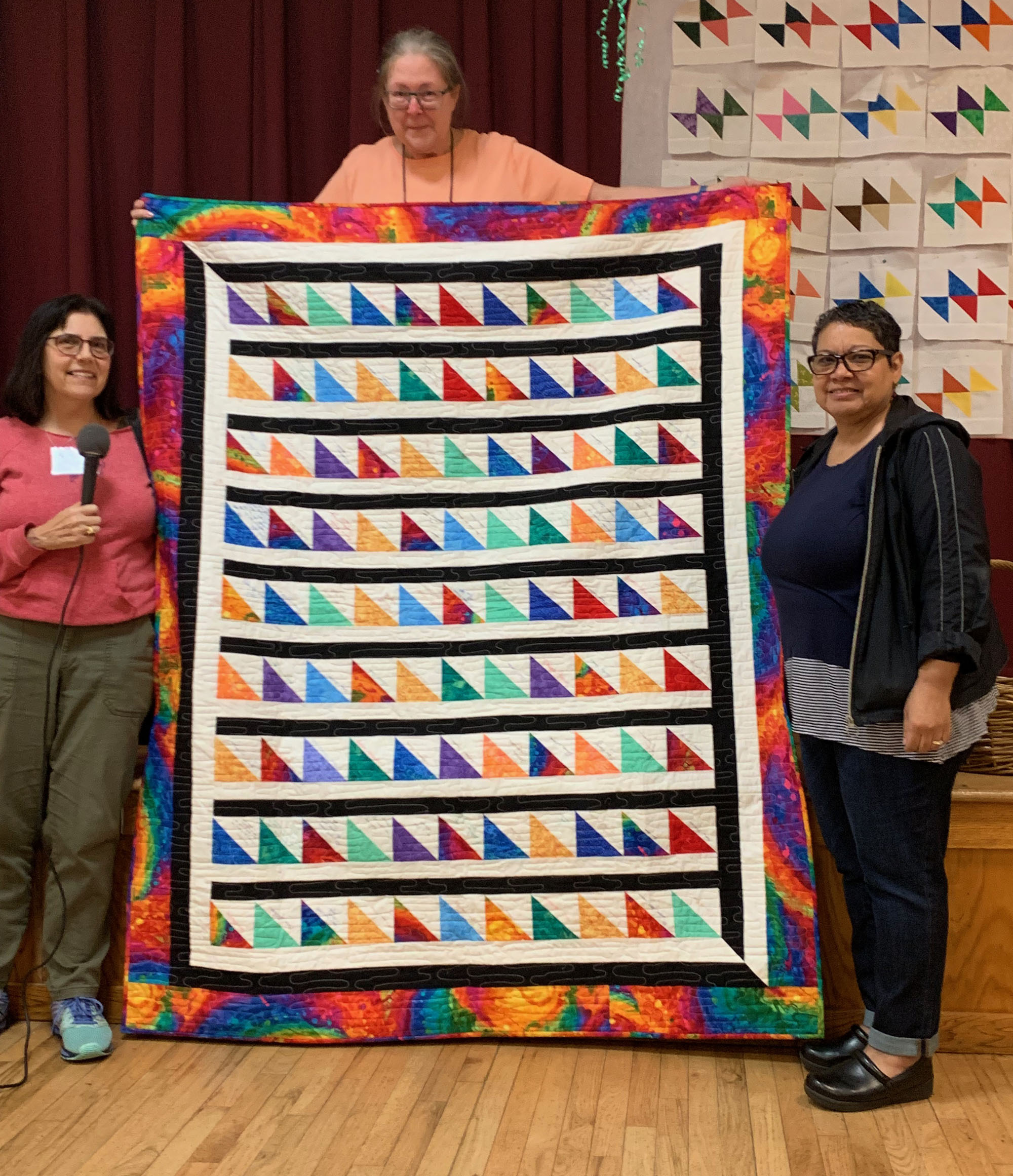 Friendship quilt presented to Sylvia Hernandez by members of the Guild.