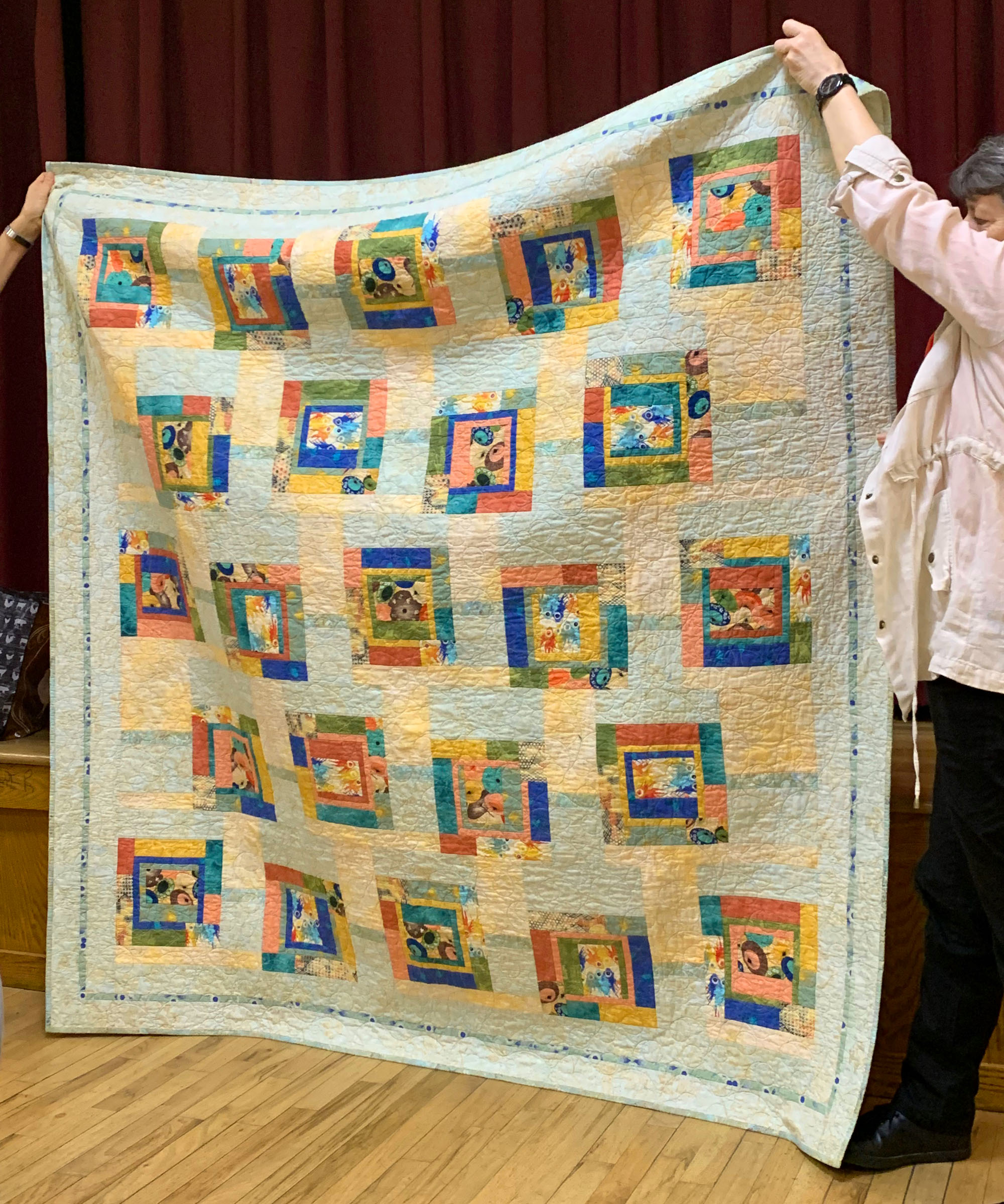 Completed Comfort Quilt, made by Gail Otis