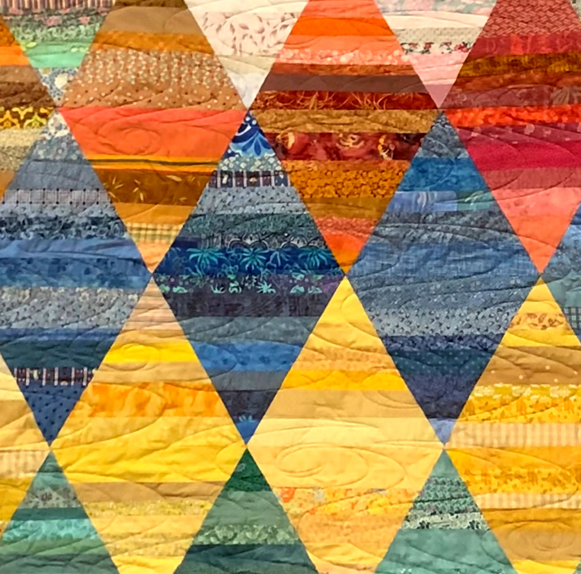 Triangle quilt  detail by Kate Haller