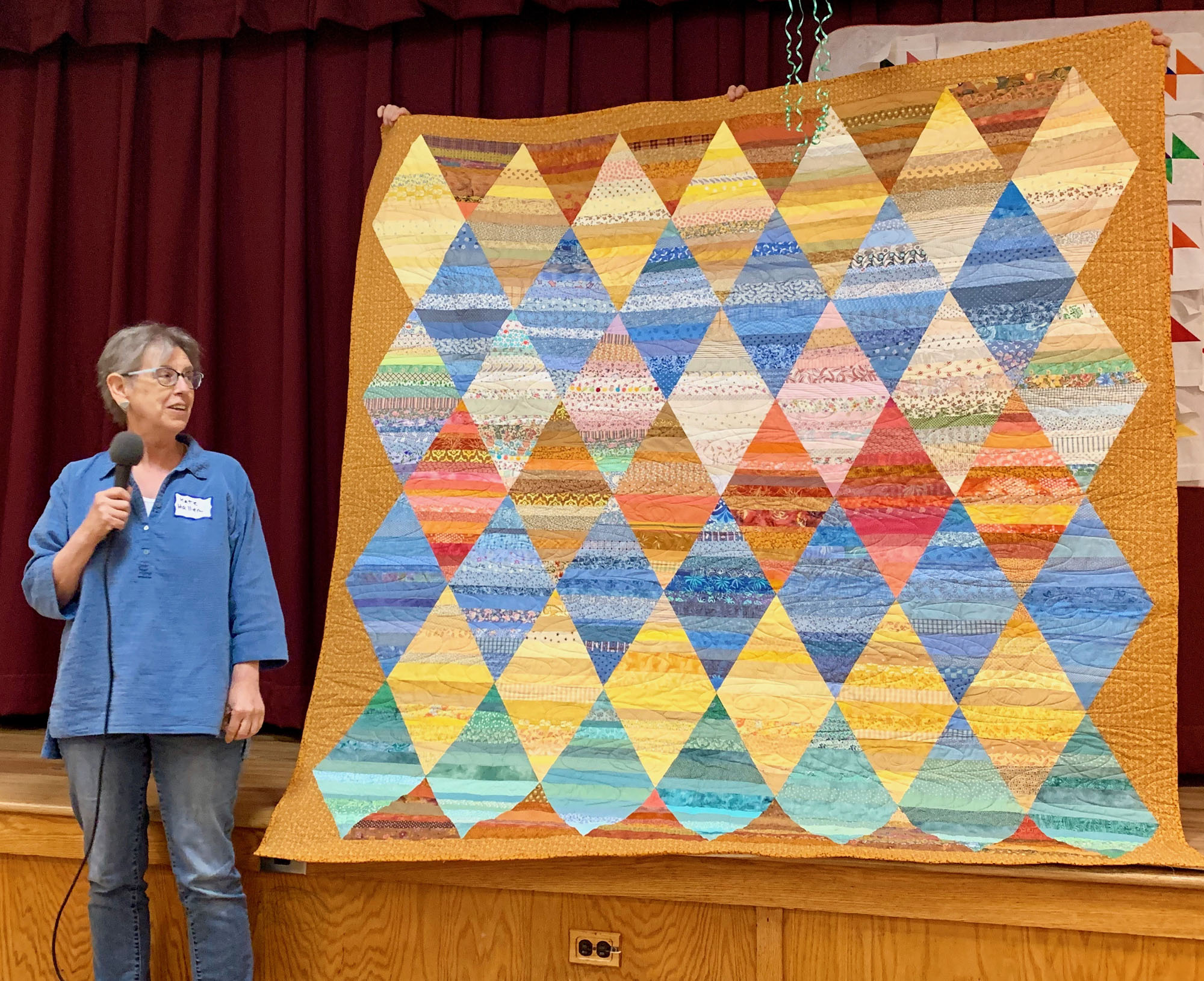 Triangle quilt by Kate Haller