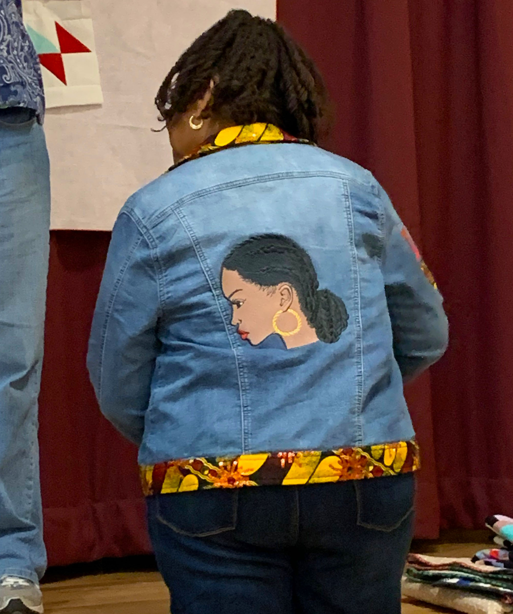 Carolyn Alexander, denim jacket embellishments