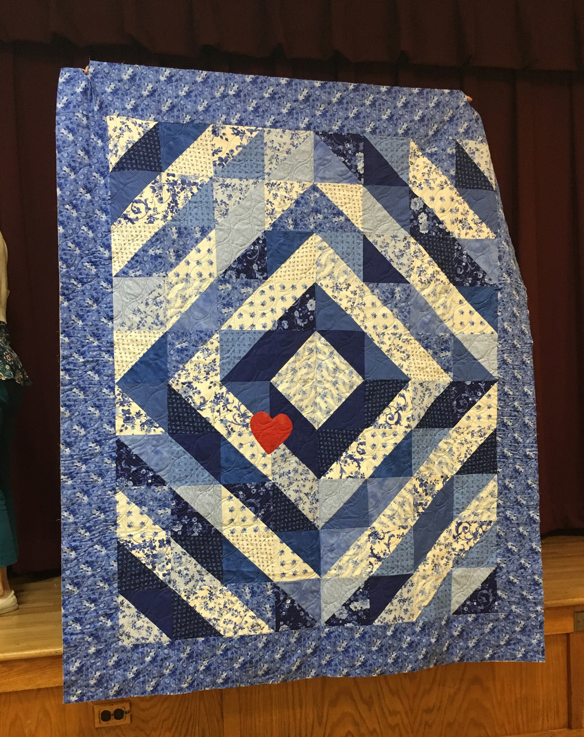 H.O.P.S. Labor of Love quilt made by Karen Mahoney