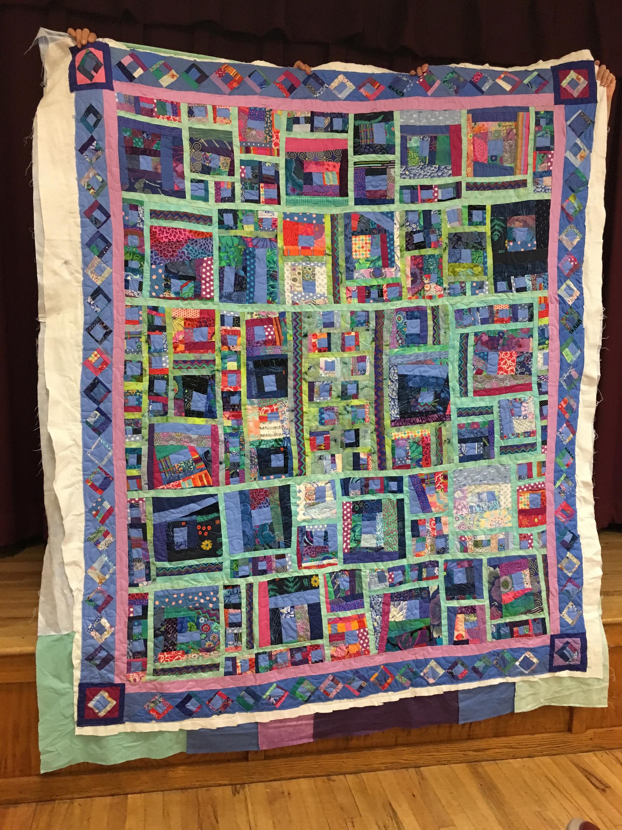 Wedding quilt by Alice Braziller