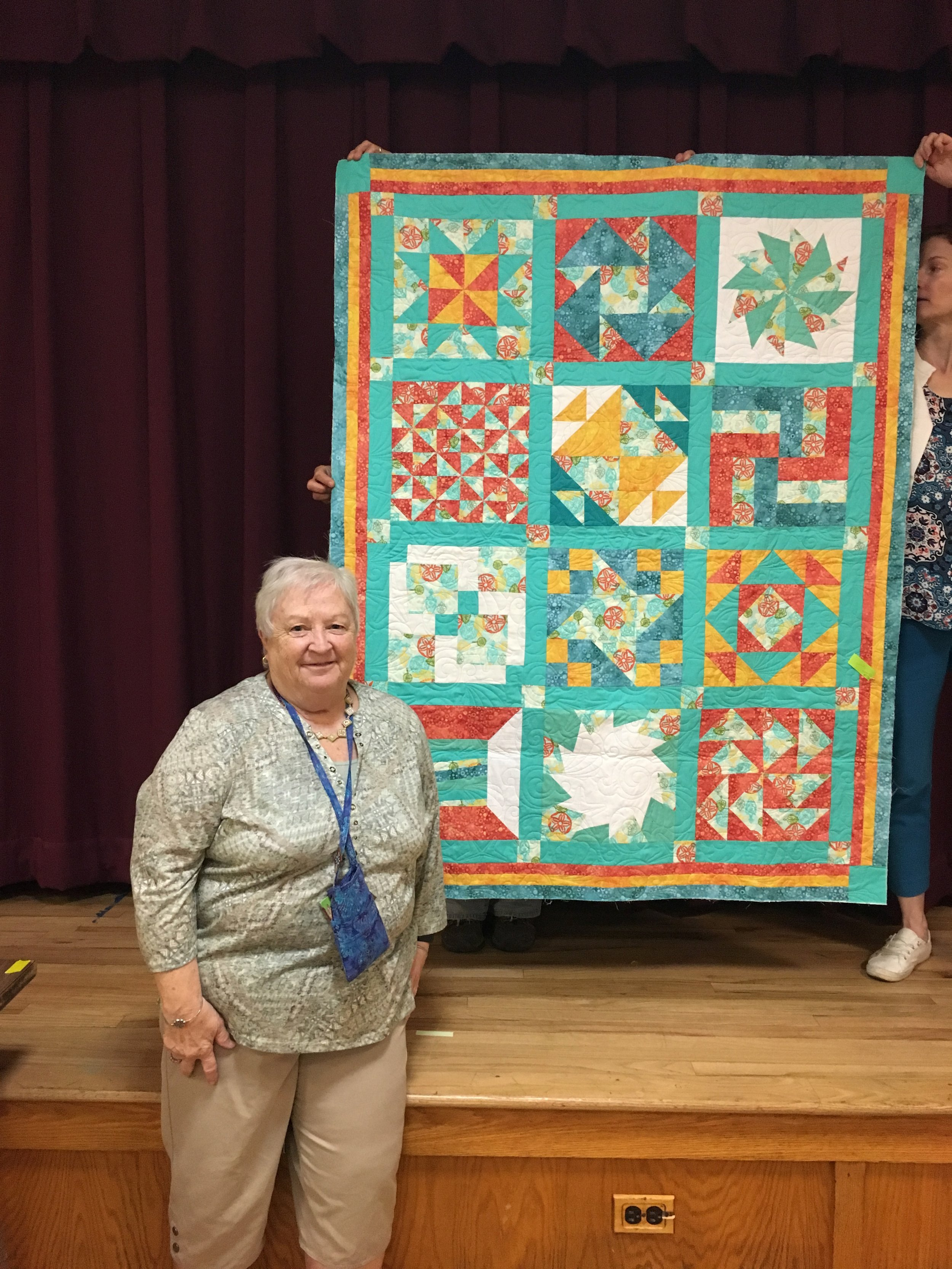 Pizza Box quilt by Kathy Clarke