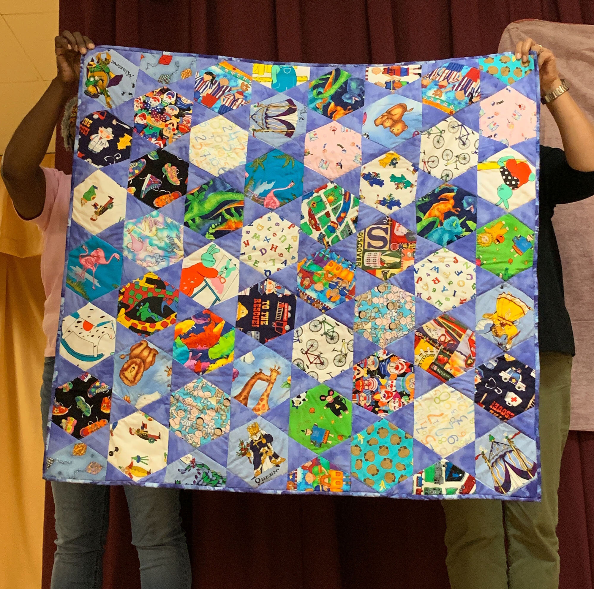 I-Spy baby quilt by Linda McNeeley