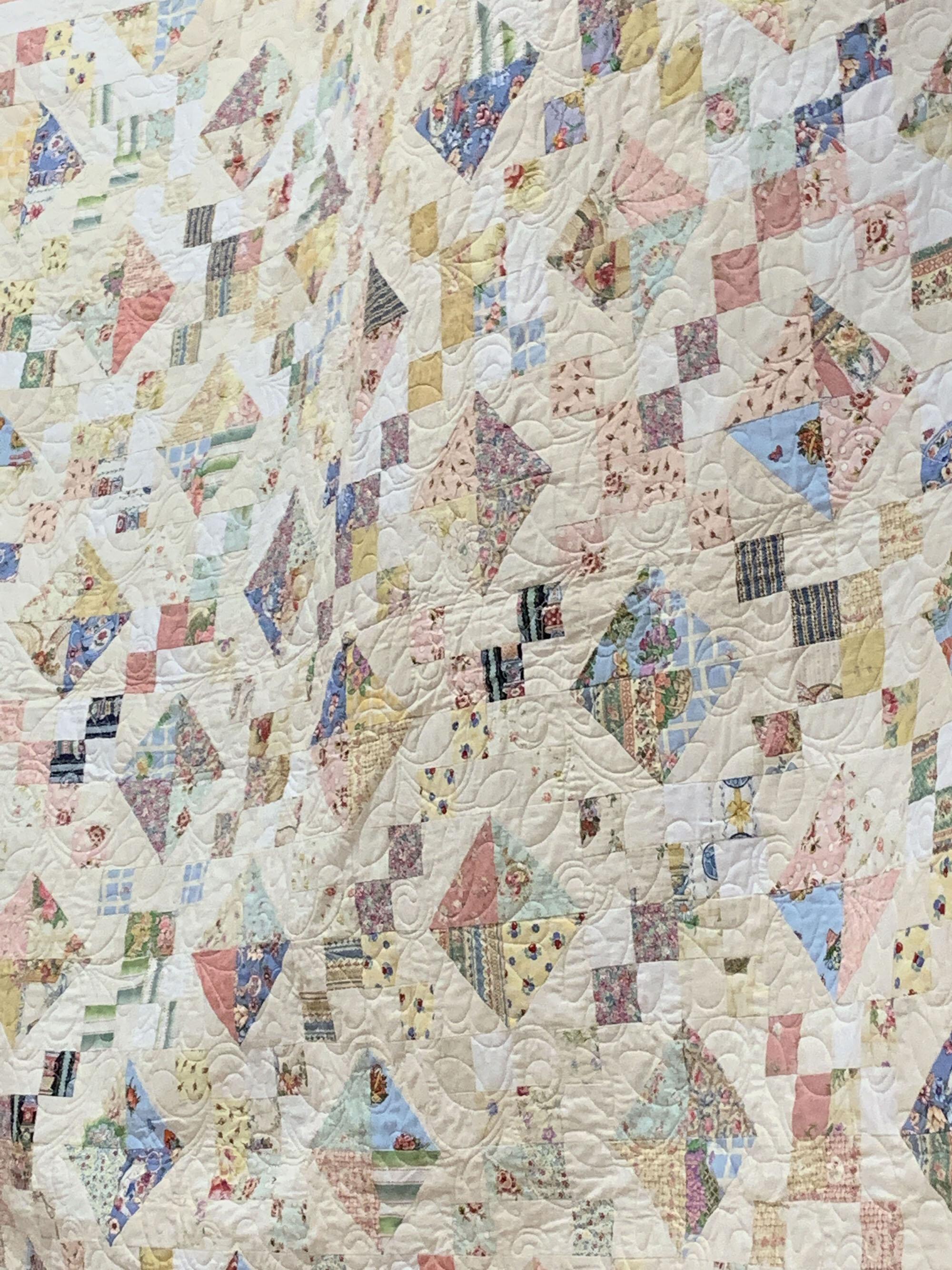 Detail of Joan's Wedding Quilt by Linda McNeeley