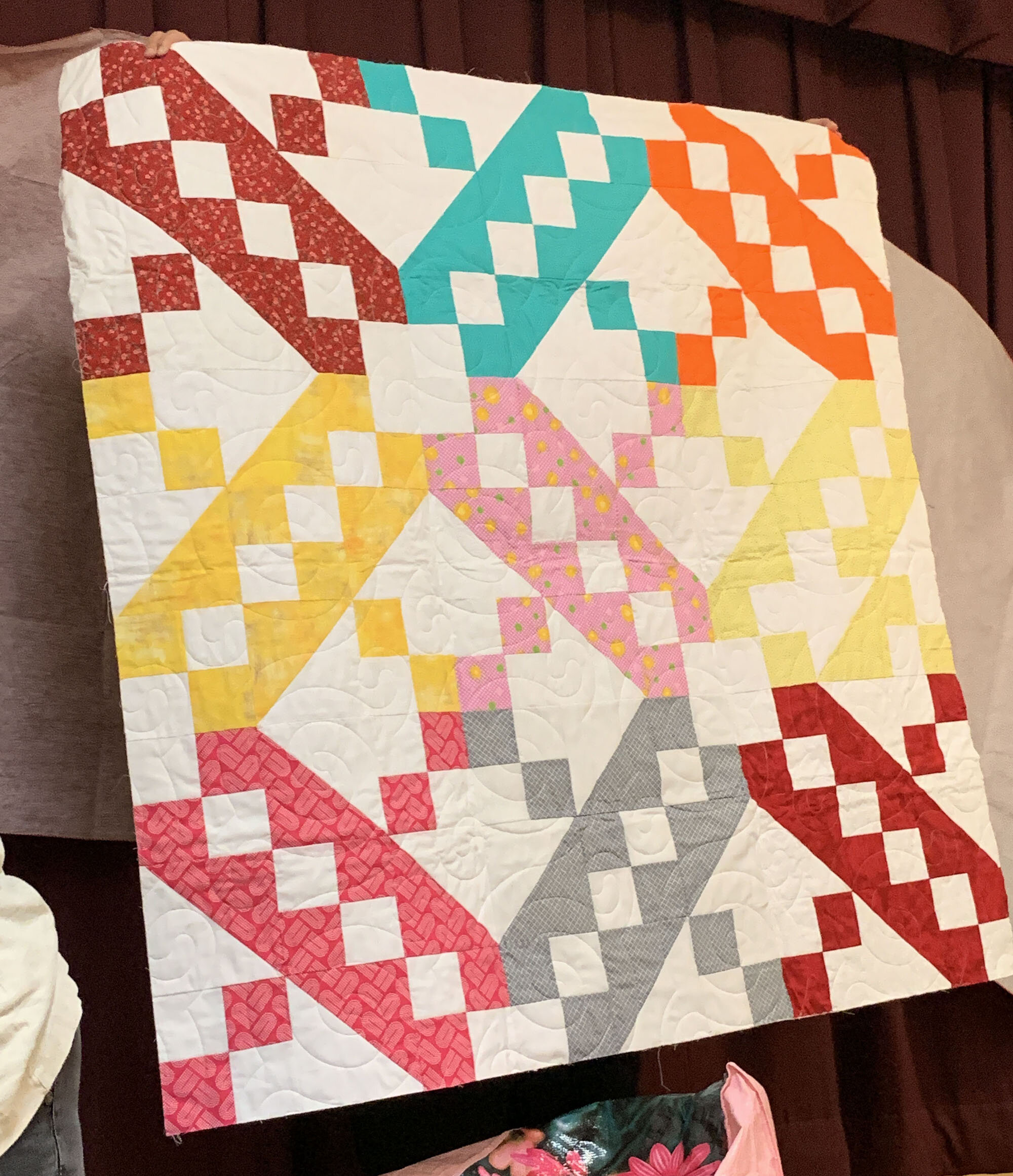 Jacob's Ladder ABC quilt by Robin Engelman
