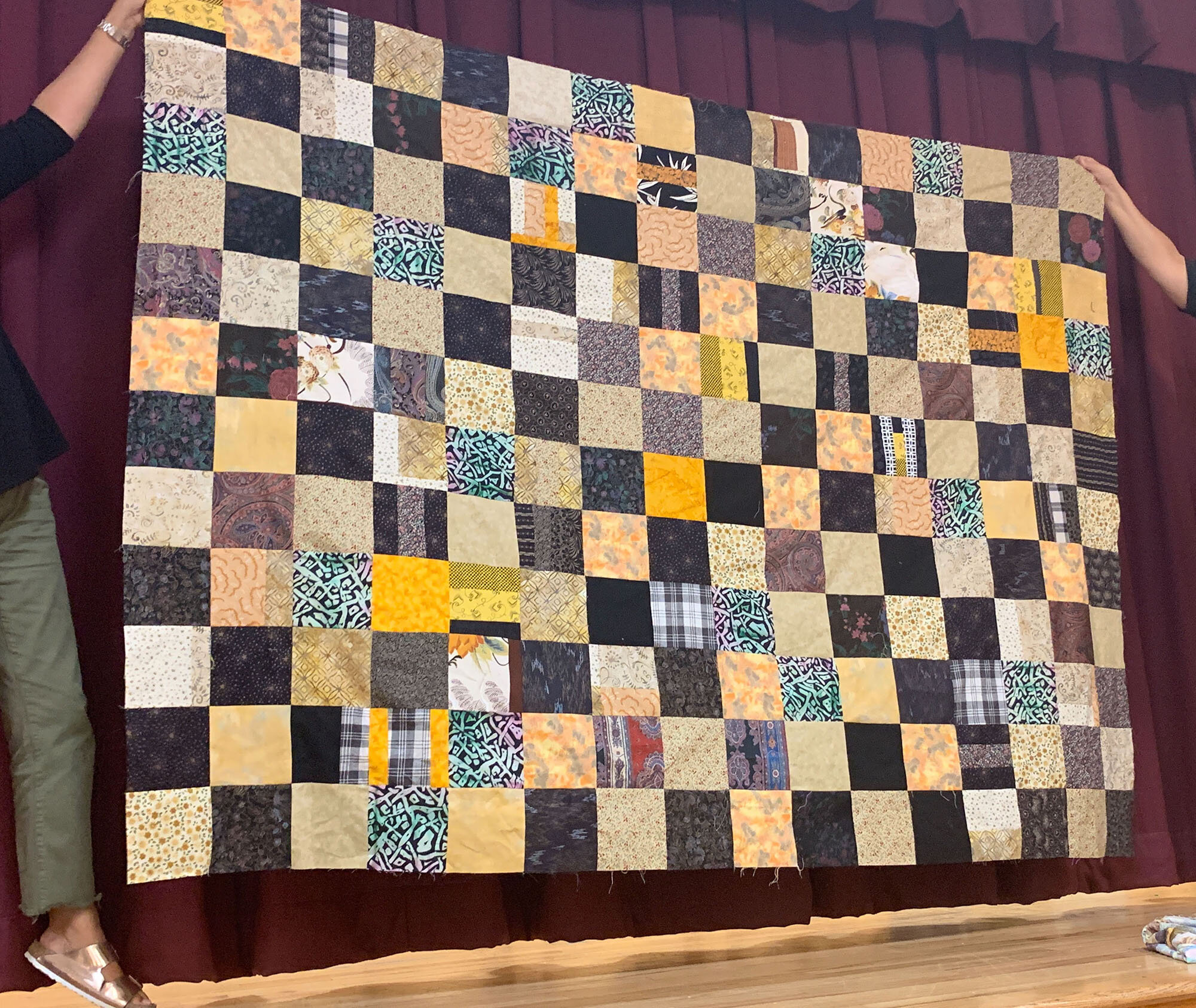 Comfort quilt top by Jody Leight