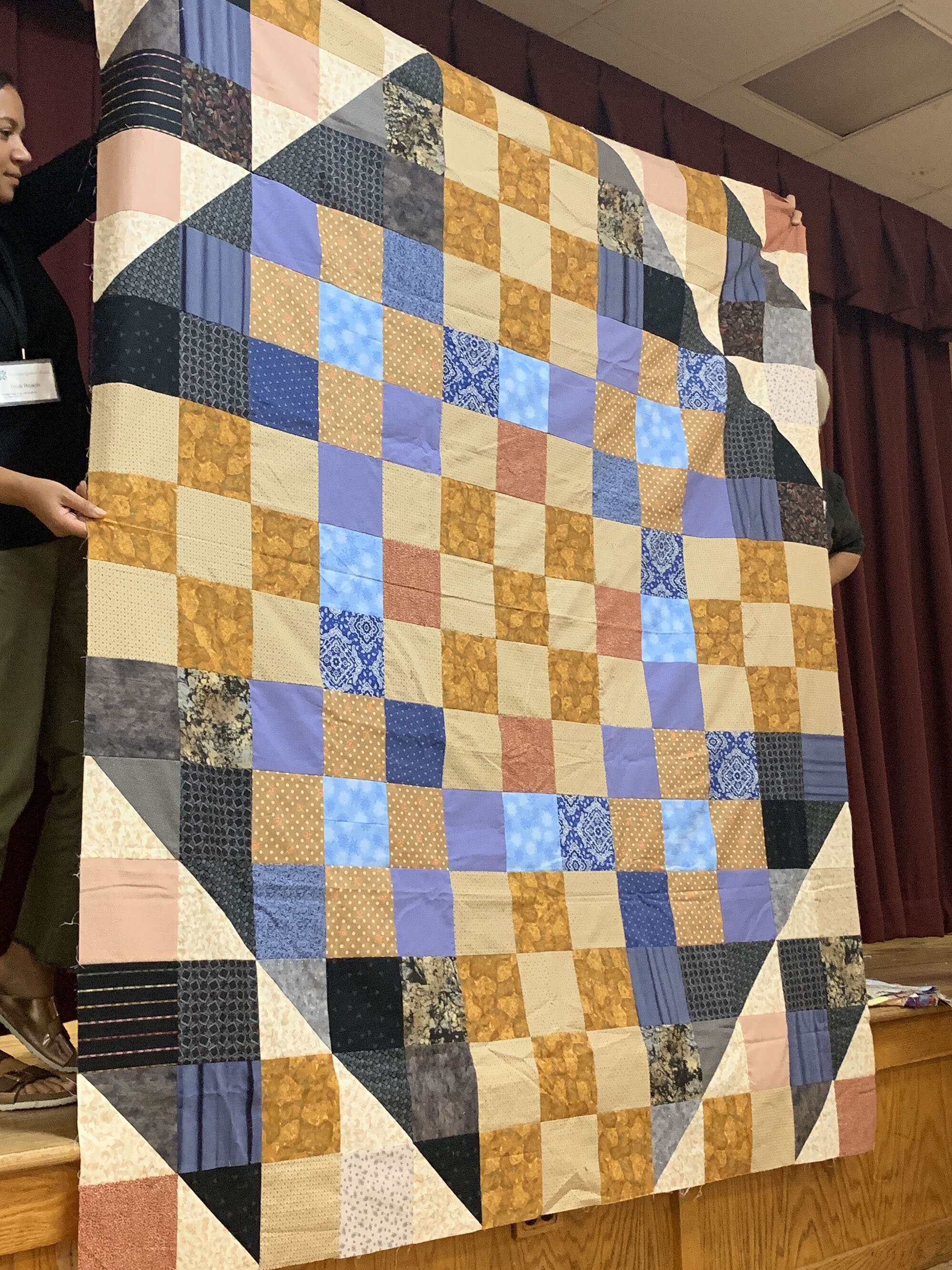 Comfort quilt top by Pat Decker