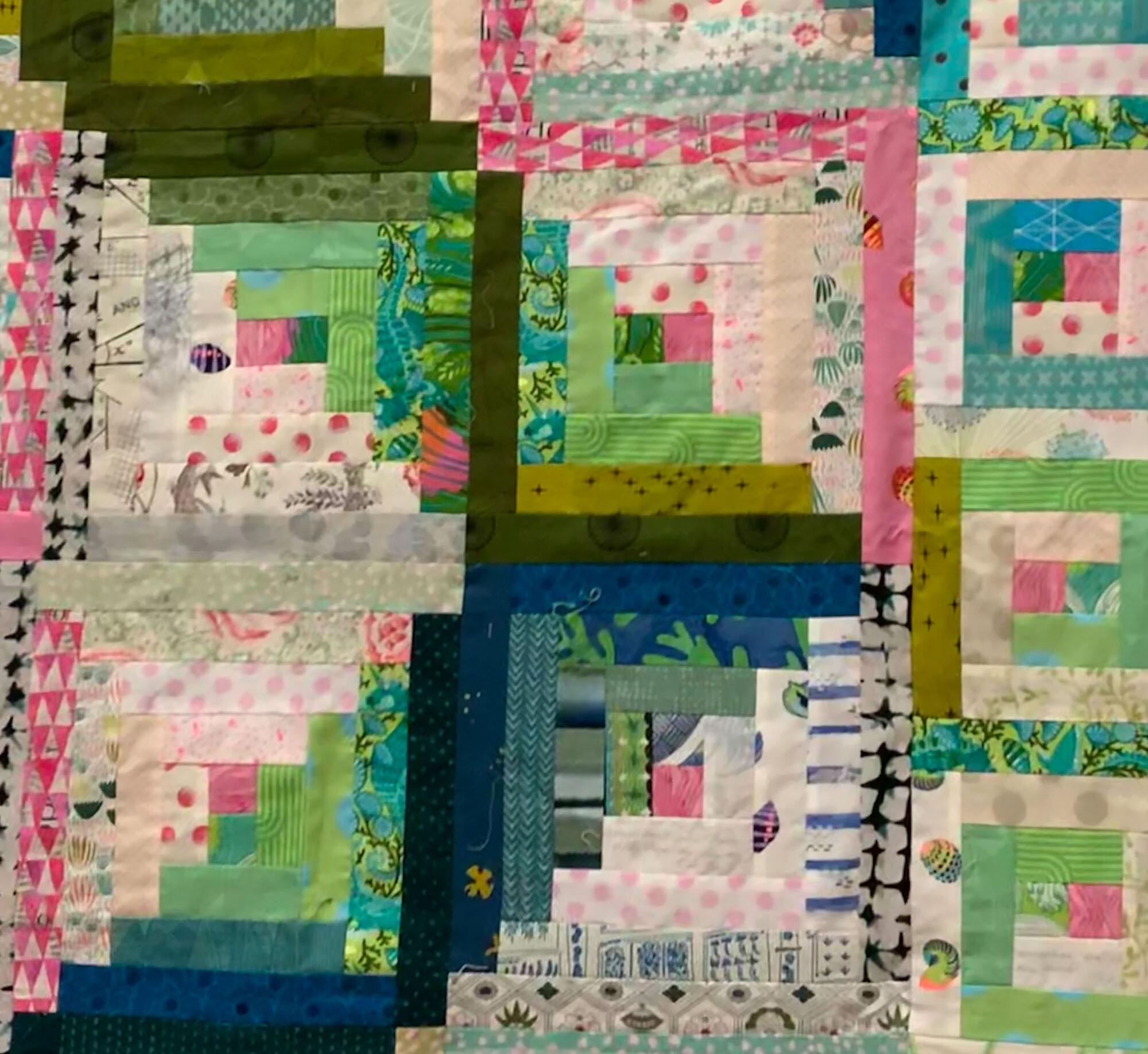 Detail, Izzy's quilt by Wendy Menard