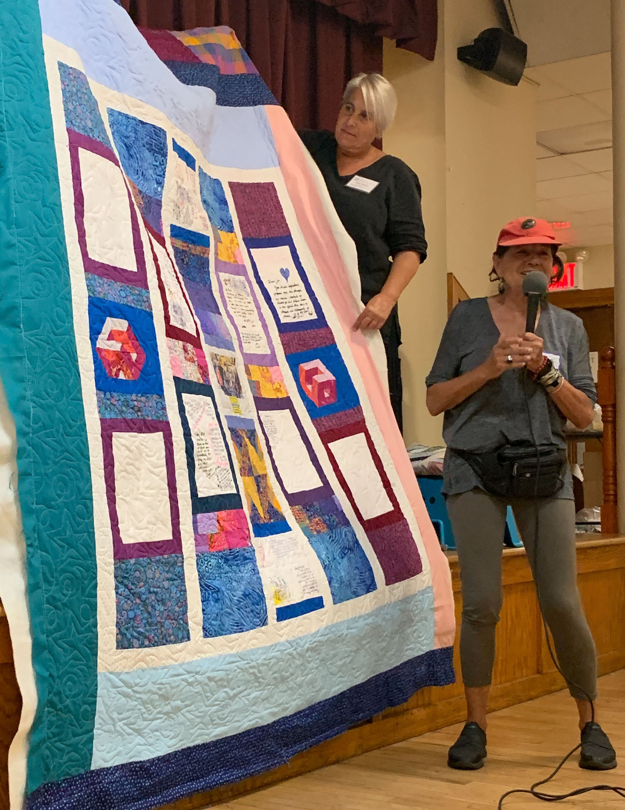 Jen's quilt signature back by Alice Braziller