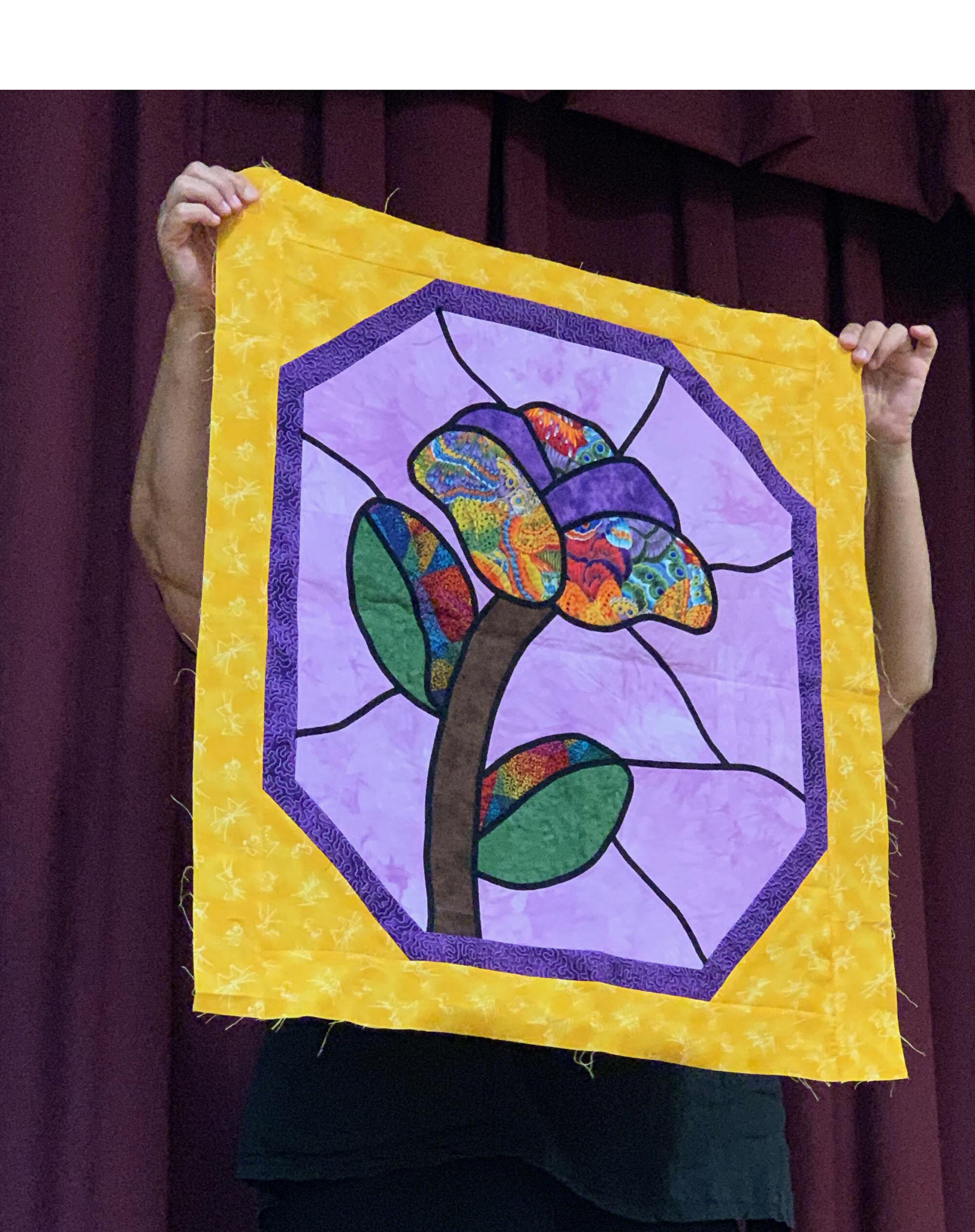 Stain Glass Flower by Carolyn Alexander