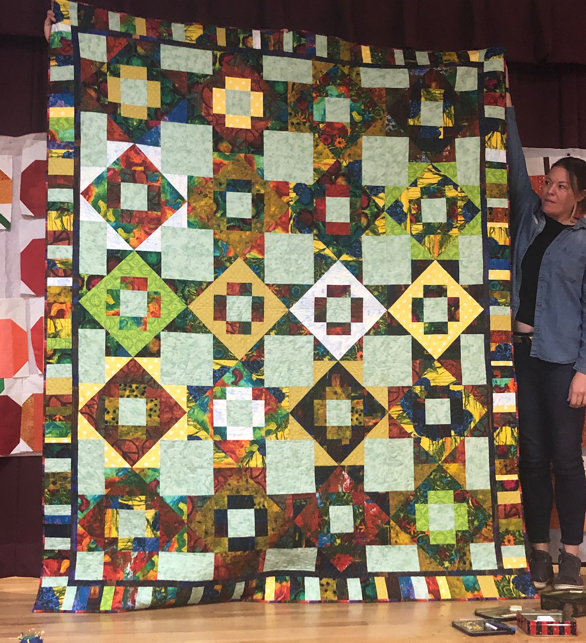 Anne Stone, Meadowlands quilt, pattern by Then Came June.
