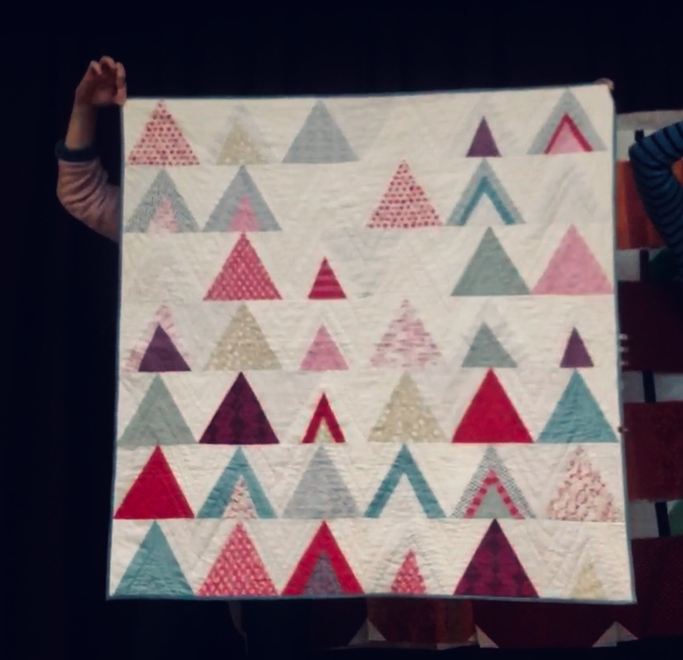 Margaret Marcy Emerson, mod mountain quilt. Pattern by Suzy Quilts.