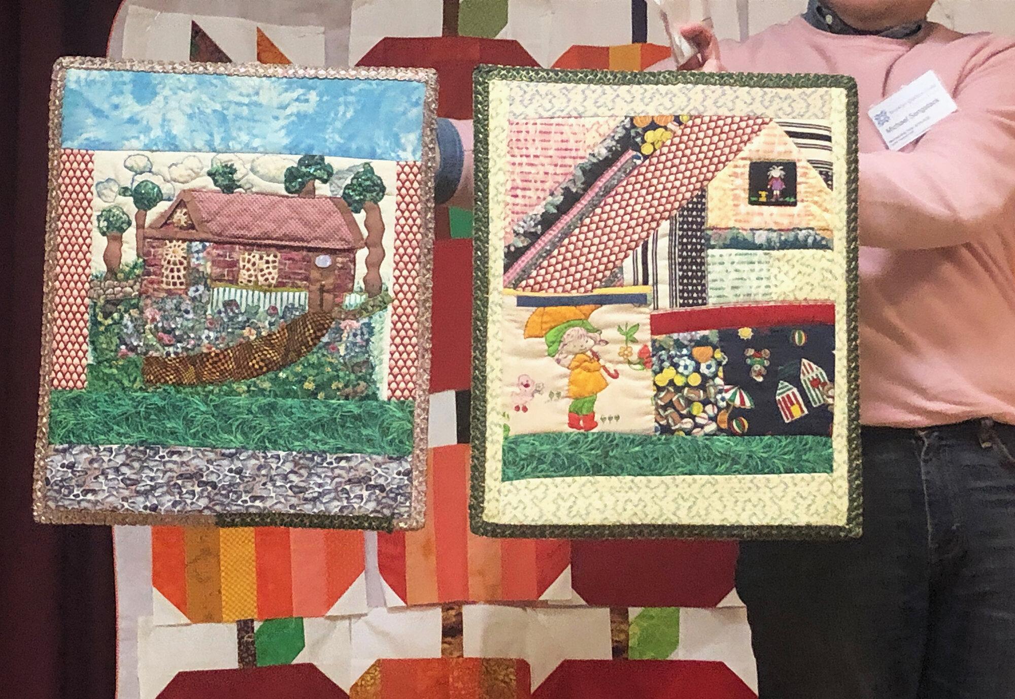 Emelda Cox, two mini quilts