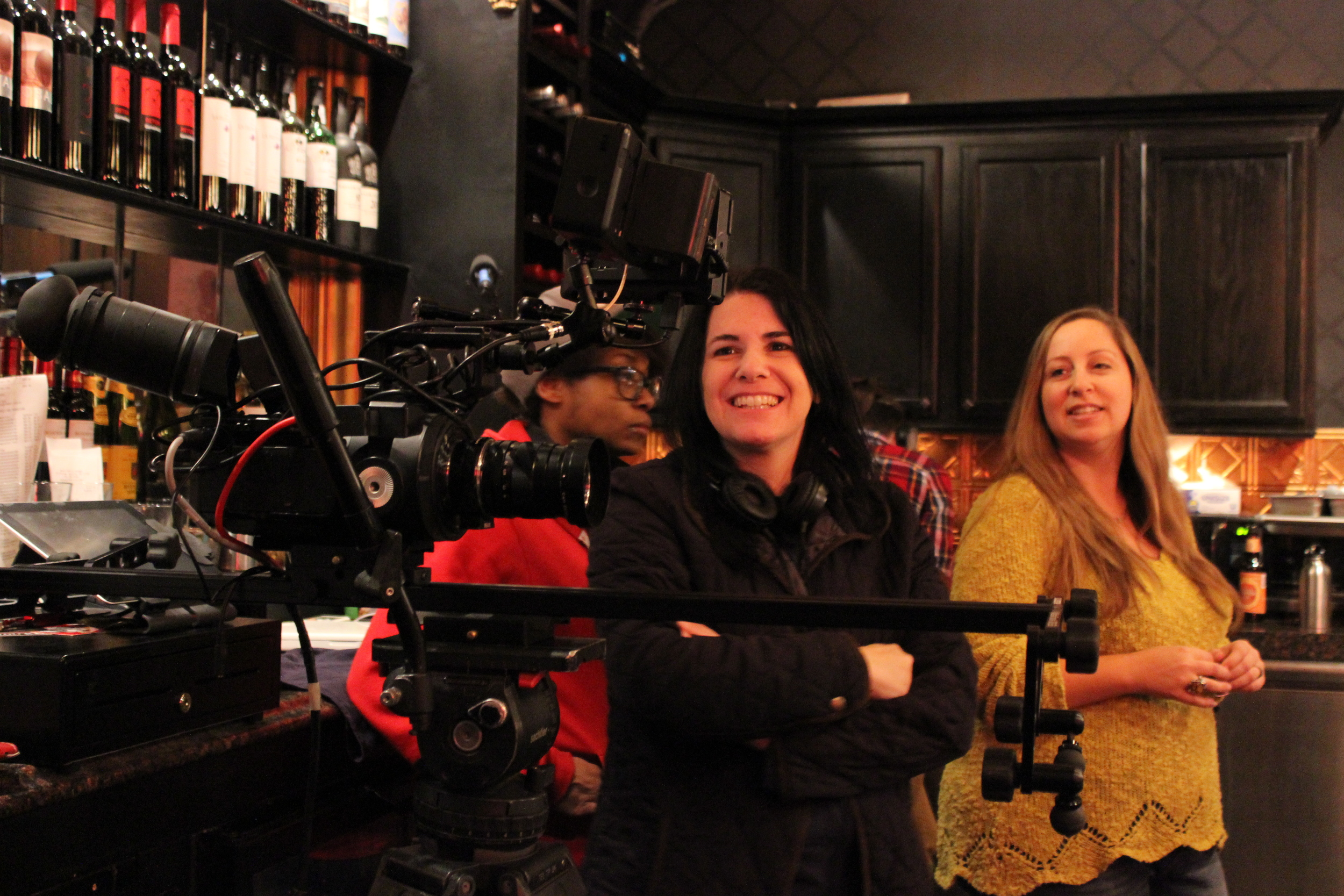 With producer, Allison Vanore, on the set of Producing Juliet