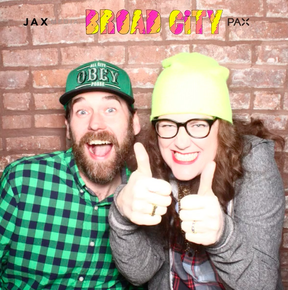 With her husband, Jason, at the Broad City S2 premiere party