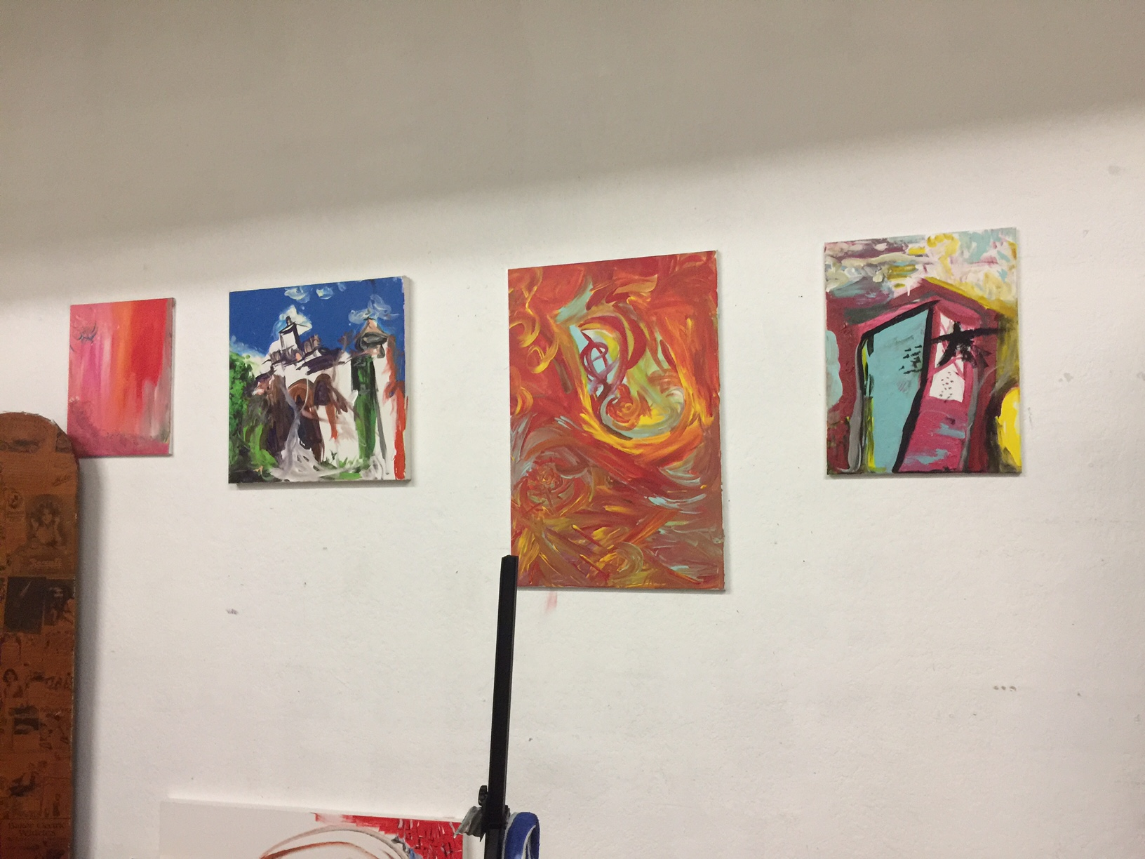 Art at her studio at MADE lbc.
